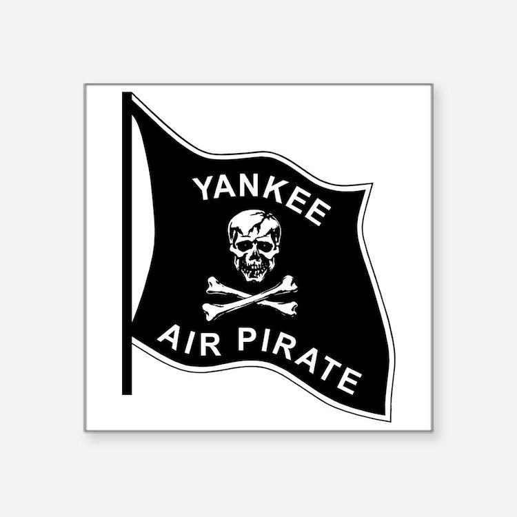 """Yankee Air Pirate Square Sticker 3"""" x 3"""""""