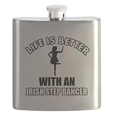 Irish Step silhouette designs Flask