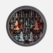 Rocket Science Damask Wall Clock