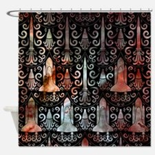 Rocket Science Damask Shower Curtain