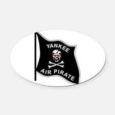Yankee Air Pirate Oval Car Magnet