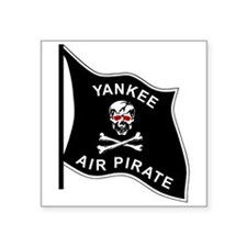 "Yankee Air Pirate Square Sticker 3"" x 3"""