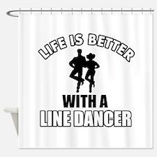 Line silhouette designs Shower Curtain
