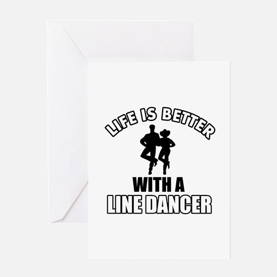Line silhouette designs Greeting Card