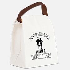 Line silhouette designs Canvas Lunch Bag