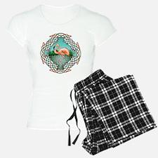 Celtic Flamingo Art Pajamas