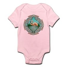 Celtic Flamingo Art Infant Bodysuit
