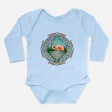 Celtic Flamingo Art Long Sleeve Infant Bodysuit