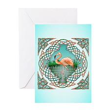 Celtic Flamingo Art Greeting Card