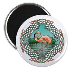Celtic Flamingo Art Magnet