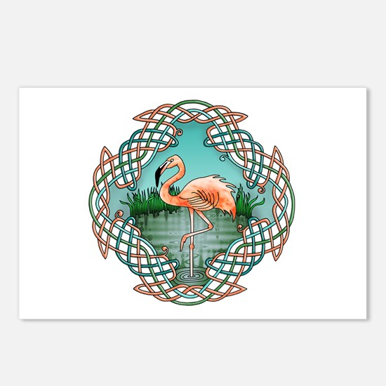 Celtic Flamingo Art Postcards (Package of 8)