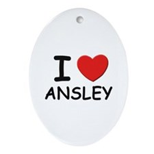 I love Ansley Oval Ornament