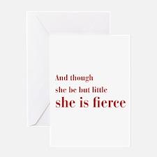she-is-fierce-bod-brown Greeting Card