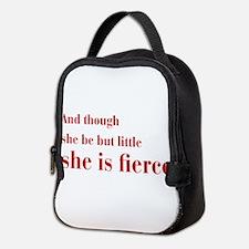 she-is-fierce-bod-brown Neoprene Lunch Bag