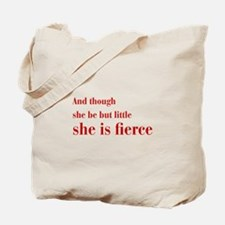 she-is-fierce-bod-brown Tote Bag
