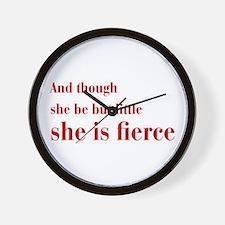 she-is-fierce-bod-brown Wall Clock