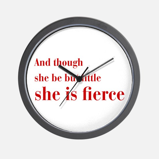 she-is-fierce-bod-brown Wall Clock