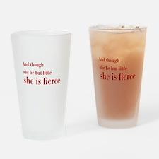 she-is-fierce-bod-brown Drinking Glass