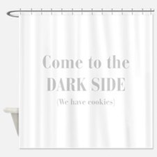 come-to-the-dark-side-bod-light-gray Shower Curtai