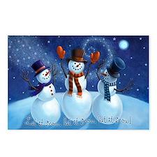 Let It Snow Snowmen Postcards (Pkg of 8)