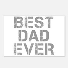 best-dad-ever-CAP-GRAY Postcards (Package of 8)