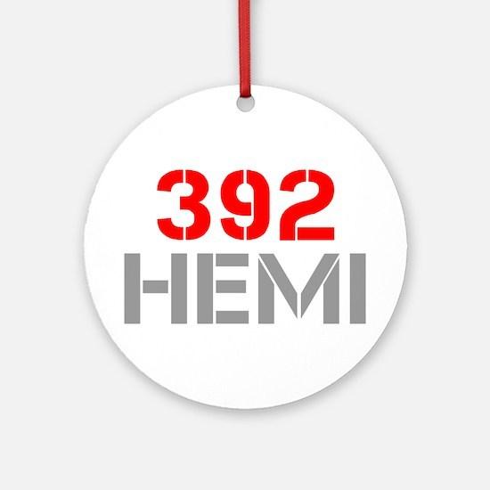 392-hemi-clean-red-gray Ornament (Round)
