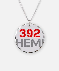 392-hemi-clean-red-gray Necklace