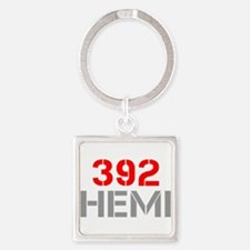 392-hemi-clean-red-gray Keychains