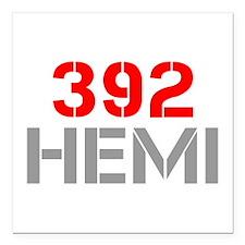 "392-hemi-clean-red-gray Square Car Magnet 3"" x 3"""