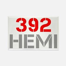 392-hemi-clean-red-gray Rectangle Magnet
