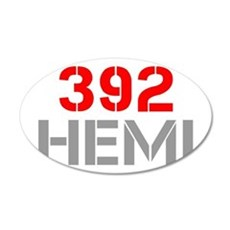 392-hemi-clean-red-gray Wall Decal