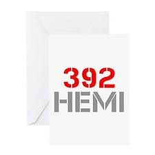 392-hemi-clean-red-gray Greeting Card