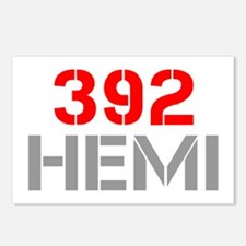 392-hemi-clean-red-gray Postcards (Package of 8)