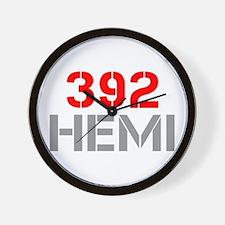 392-hemi-clean-red-gray Wall Clock