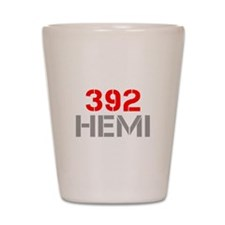 392-hemi-clean-red-gray Shot Glass