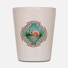 Celtic Flamingo Art Shot Glass