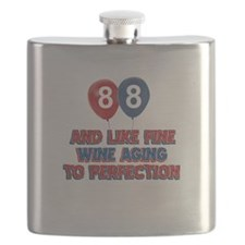 88 and aging like fine wine Flask