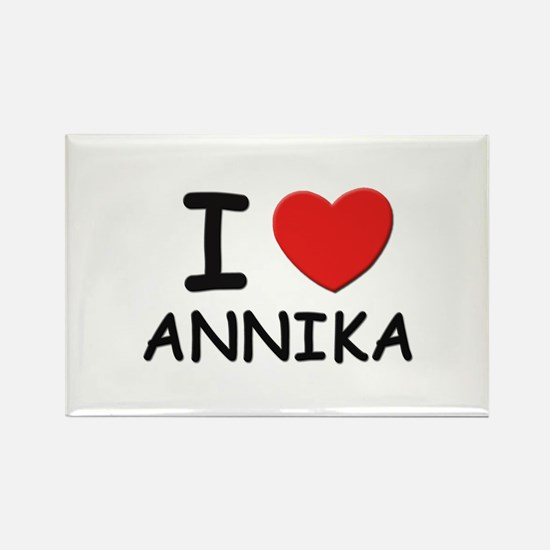 I love Annika Rectangle Magnet