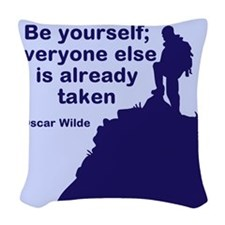 Be Yourself Woven Throw Pillow