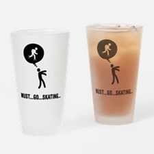 Roller Skating Drinking Glass