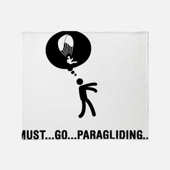 Paragliding Throw Blanket