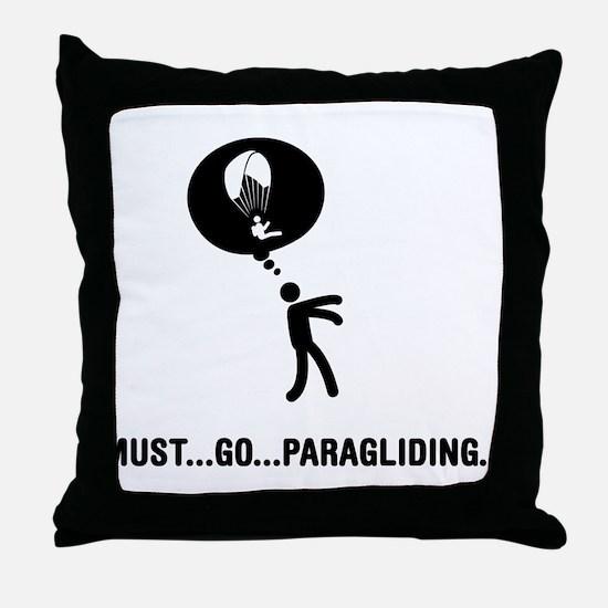 Paragliding Throw Pillow