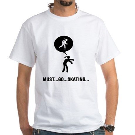 Roller Skating White T-Shirt