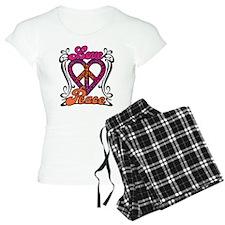 LOVE PEACE Heart Design Pajamas