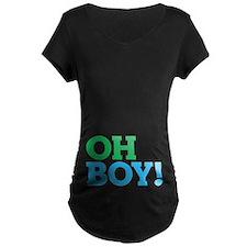 Oh Boy Type Maternity T-Shirt
