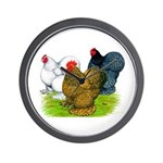 Assorted Cochins Wall Clock