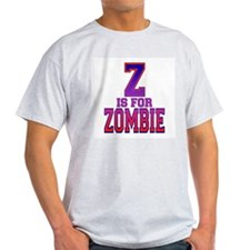 Z is for Zombie Ash Grey T-Shirt