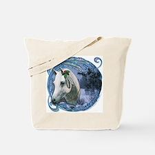 Native American Xmas Horse Tote Bag