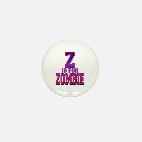 Z is for Zombie Mini Button