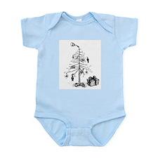 Gothic Christmas Tree Infant Bodysuit